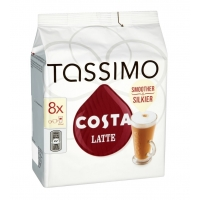 Image of MEGA DEAL Tassimo Costa Latte Coffee 16 Discs 8 Servings 239g