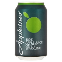Image of Appletiser 100 Apple Juice Gently Sparkling in Can 330ml