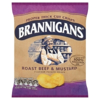 Image of Brannigans Roast Beef and Mustard Flavour Crisps 40g