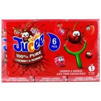 Image of Jucee 100 Pure Cherries and Berries Juice 200ml x 6