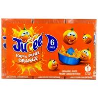 Image of Jucee 100 Pure Orange Juice 200ml x 6