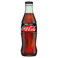 Image of TODAY ONLY Coca Cola Zero Glass Bottle 330ml