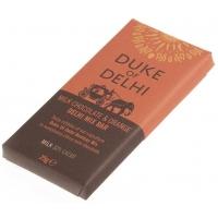 Image of Duke of Delhi Milk Chocolate and Orange Dehli Mix Bar 25g