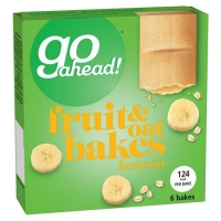 Image of Go Ahead Fruit and Oat Bakes Banana 6 Pack