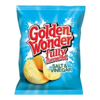 Image of Golden Wonder Salt and Vinegar Flavour Crisps 32.5g