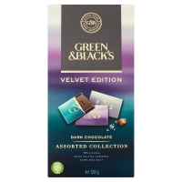 Image of Green and Blacks Velvet Edition Dark Chocolate Assorted Collection 120g