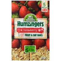 Image of Humzingers Strawberry Fruit and Oat Bars 125g 5 pack