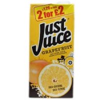 Image of Just Juice Pure Grapefruit Juice 1 Litre