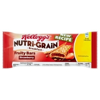 Image of Kelloggs Nutri Grain Breakfast Fruity Bars Strawberry 37g