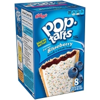 Image of TODAY ONLY Kelloggs Pop-Tarts Frosted Blueberry 8 Toaster Pastries 416g