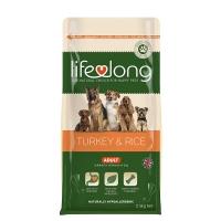 Image of Lifelong Adult Dog Food - Turkey and Rice 2.5kg