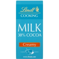Image of Lindt Cooking Bar 30 Cocoa Creamy 180g