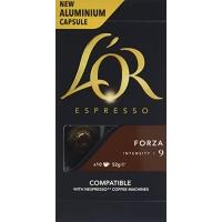 Image of LOR Espresso Forza 10 Aluminium Nespresso Compatible Capsules Intensity 9 (Pack of 10) 52 g
