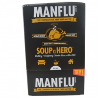 Image of FURTHER REDUCTION Manflu Instant Chicken Soup with Spice Vitamins and Minerals 8 x 27g