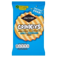 Image of McVities Baked Mini Cheddars Crinklys Salt and Vinegar Flavour 50g
