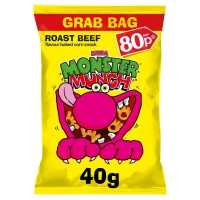 Image of Monster Munch Roast Beef Flavour 40g