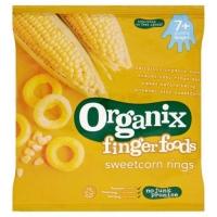 Image of Organix Finger Foods Sweetcorn Rings 20g