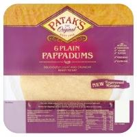 Image of Pataks 6 Plain Pappadums