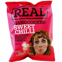 Image of TODAY ONLY Real Handcooked Sweet Chilli Flavour Potato Crisps 35g