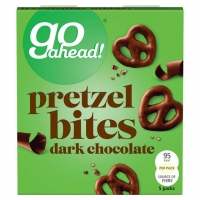 Image of SATURDAY SPECIAL Go Ahead Pretzel Bites Dark Chocolate 5 x 20g