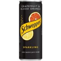 Image of Schweppes Grapefruit and Blood Orange Sparkling Juice Drink 250ml