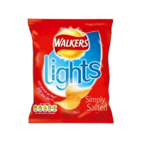 Image of Walkers Lights Simply Salted 24g