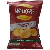 Image of Walkers Tomato Ketchup Crisps 32.5g