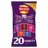 Image of MEGA DEAL Walkers 70 Years Variety Pack 25g x 20