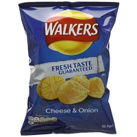 Image of Walkers Cheese and Onion Flavour Crisps 32.5 g