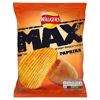 Image of Walkers Max Deep Ridged Taste Crisps Paprika 50g
