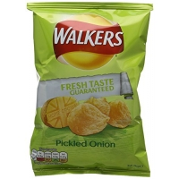 Image of Walkers Pickled Onion Flavour Crisps 32g
