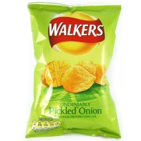 Image of Walkers Pickled Onion Flavour Crisps 50g