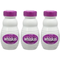 Image of FURTHER REDUCTION Whiskas Cat Food Milk 3 x 200 ml
