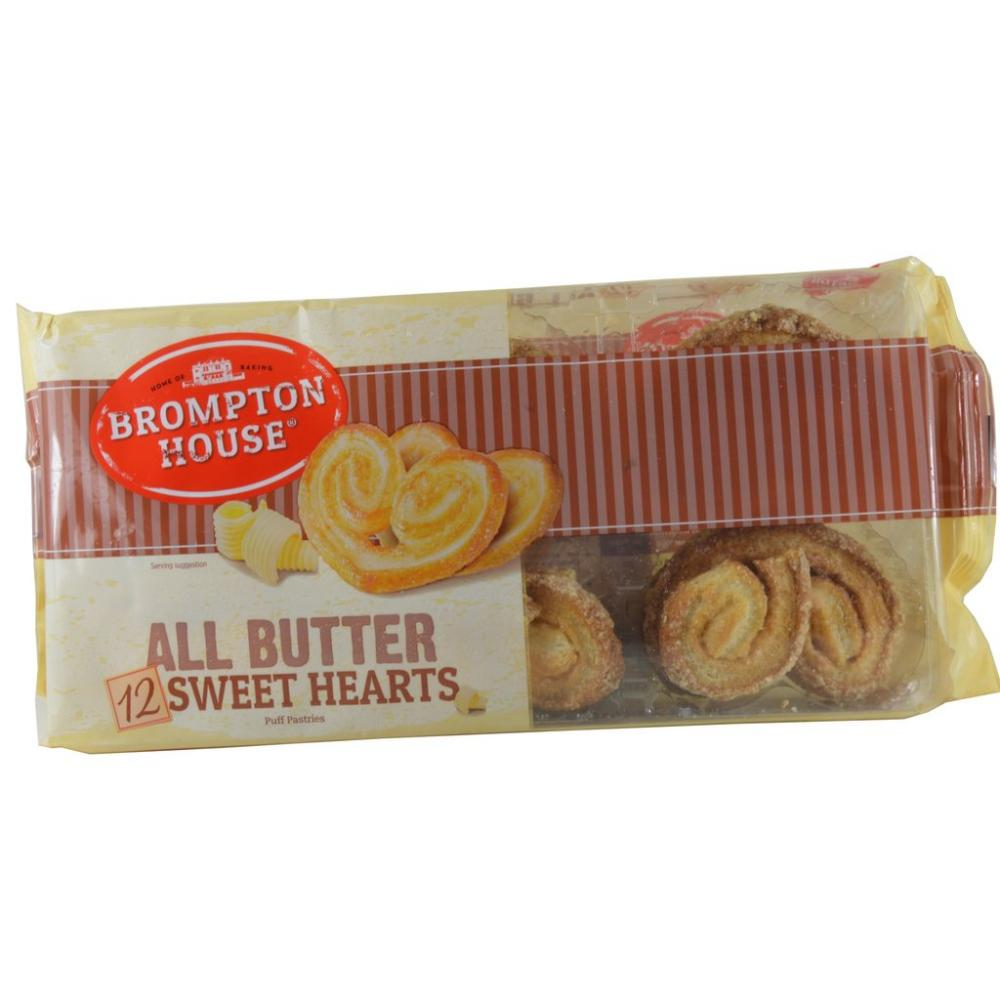 CLEARANCE  Brompton House 12 All Butter Sweet Hearts 130g