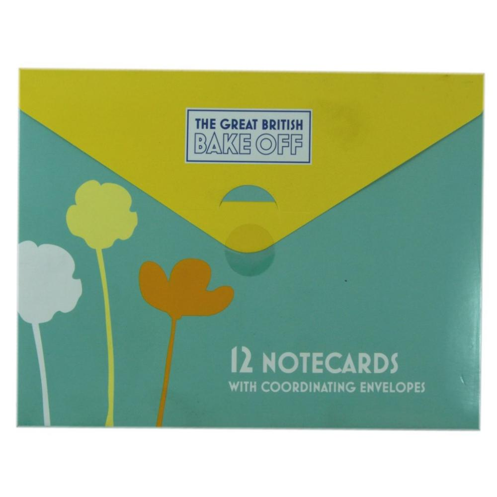 The Great British Bake Off 12 Notecards with Coordinating Envelopes