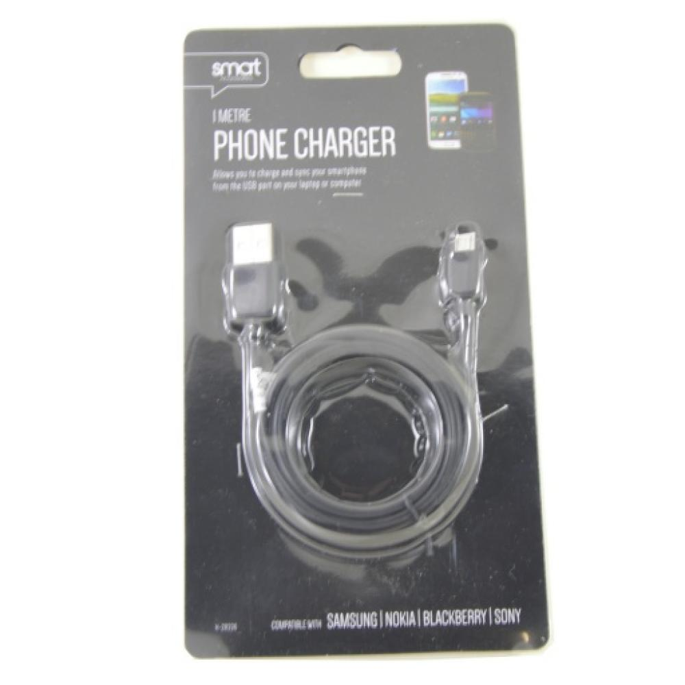 Smart Accessories 1 Metre Phone Charger