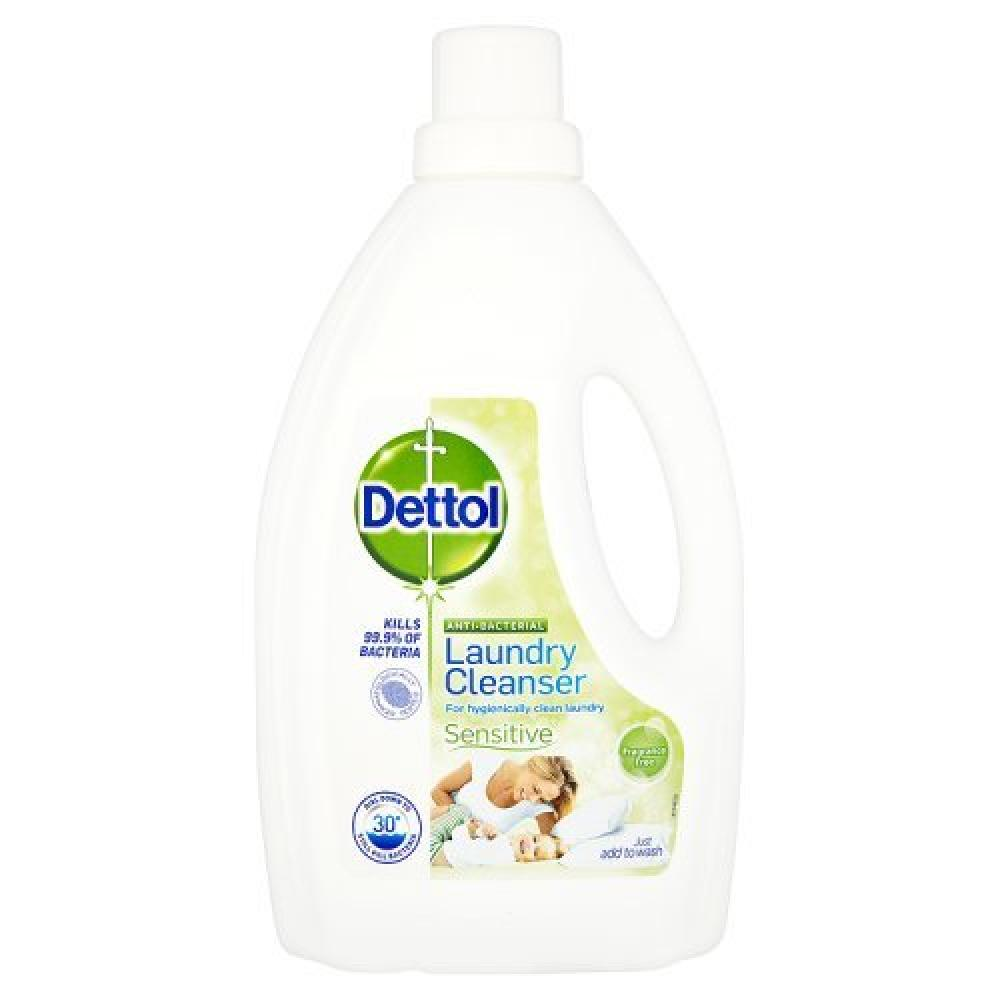 Dettol Antibacterial Laundry Cleanser Sensitive Fragrance Free 1500ml