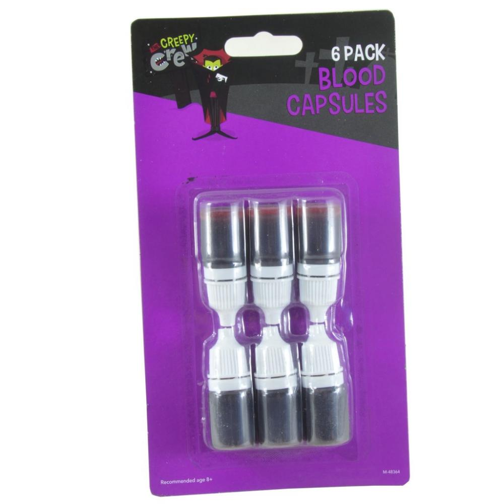 The Creepy Crew 6 Pack Blood Capsules
