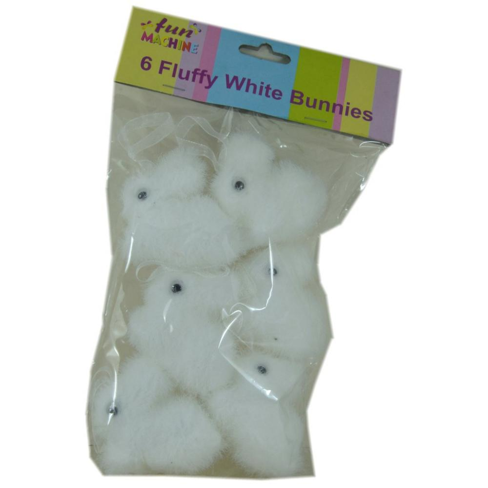 Fun Machine 6 Fluffy White Bunnies