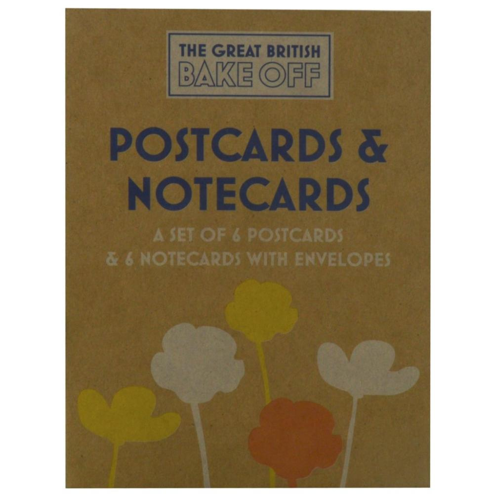 The Great British Bake Off 6 Postcards and 6 Notecards with Envelopes