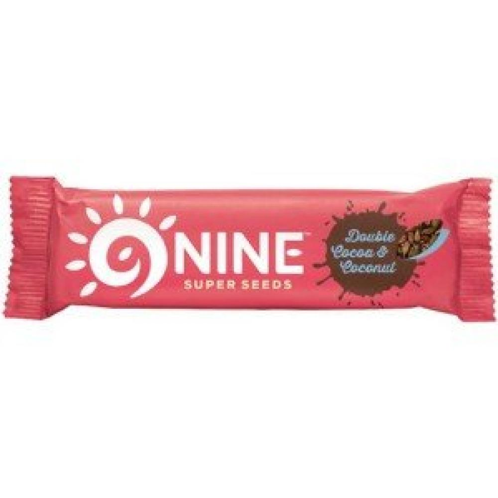 9Nine Super Seeds Double Cocoa and Coconut Bar 40 g
