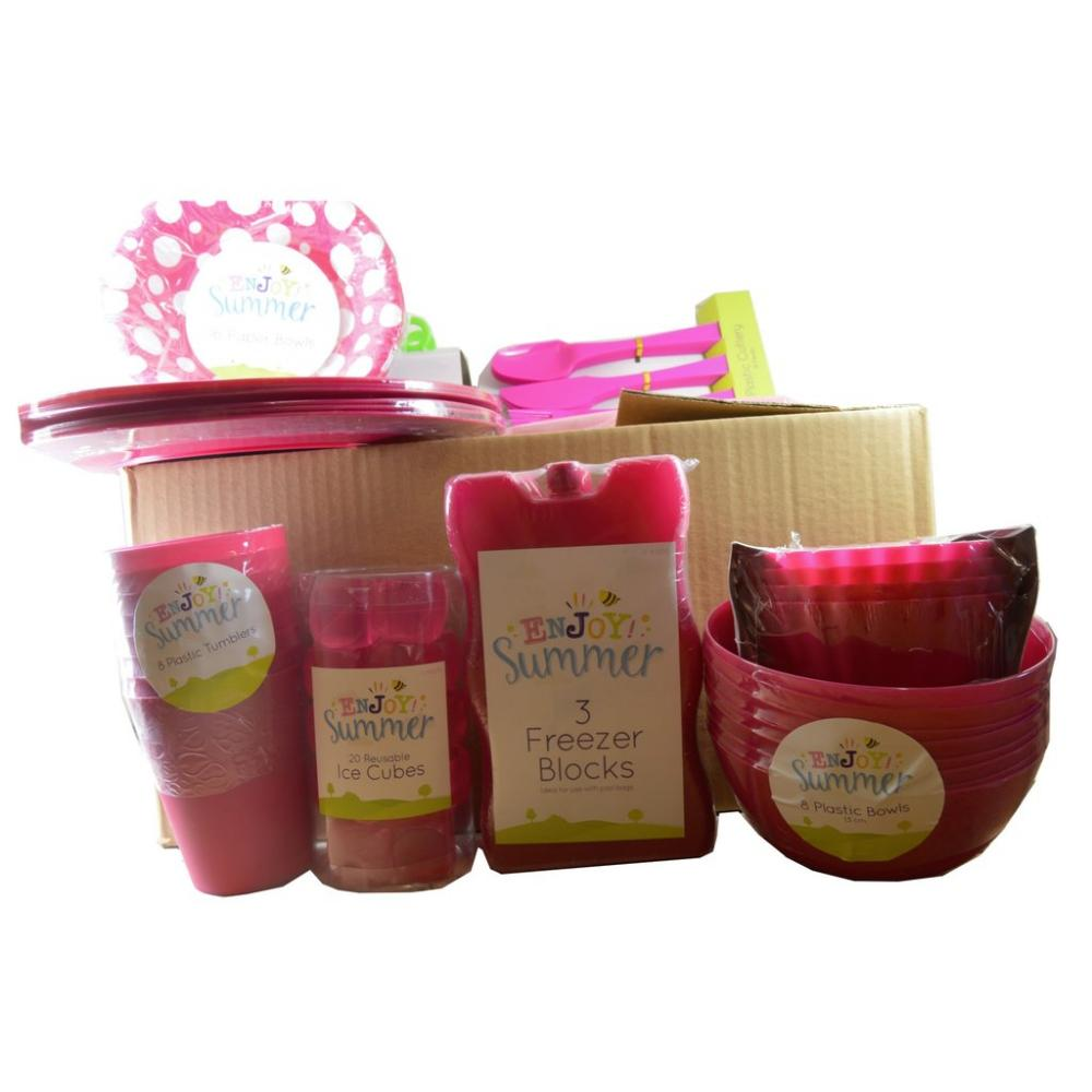 Approved Food BBQ Picnic Box PINK