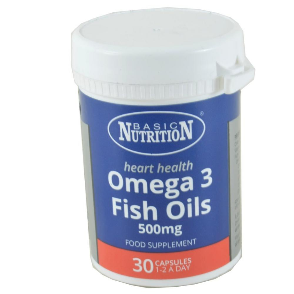Basic Nutrition Omega 3 Fish Oils 30 Capsules