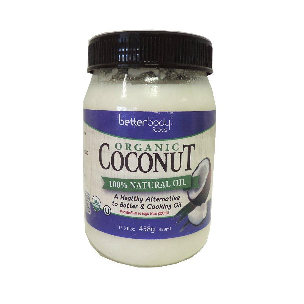 BetterBody Organic Coconut Natural Oil 458g