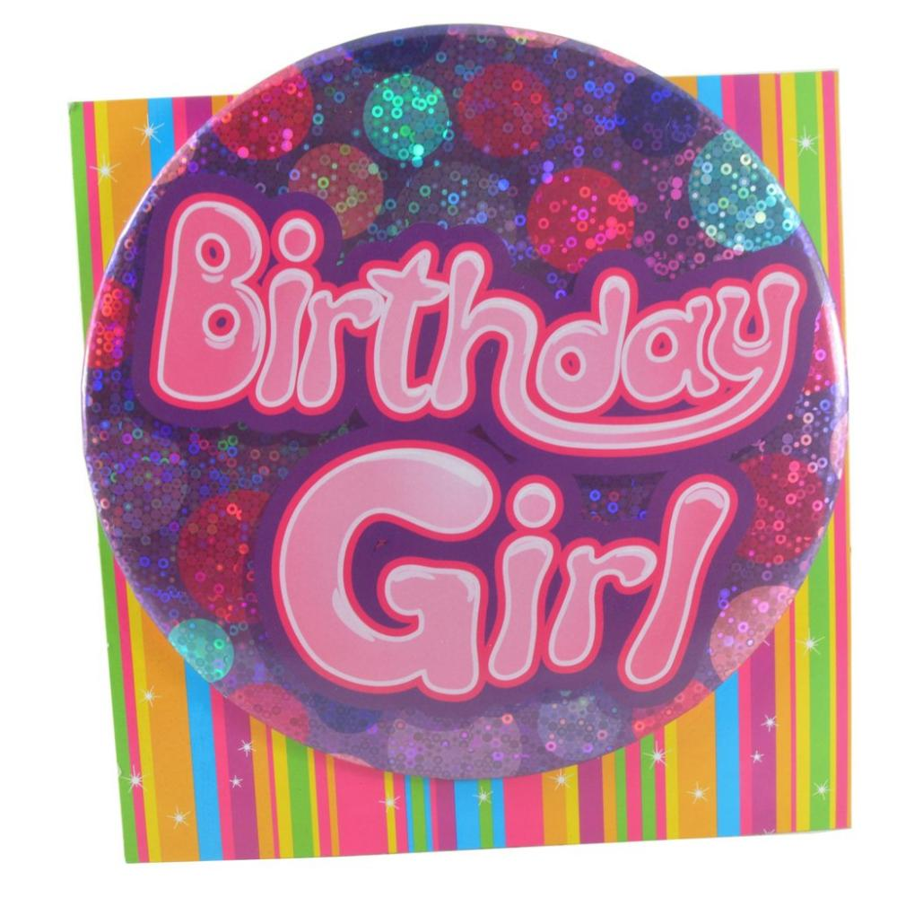 Large Badge Birthday Girl
