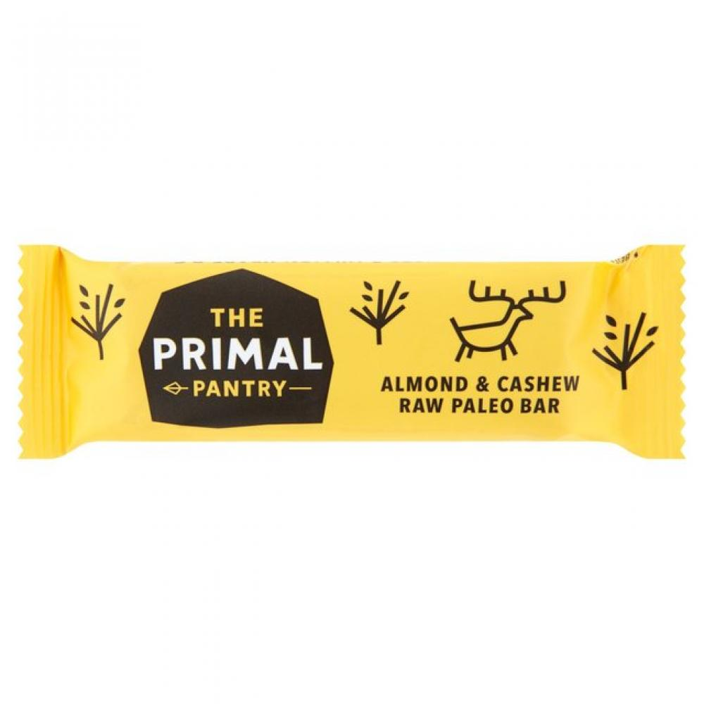 The Primal Pantry Almond and Cashew Raw Paleo Bar 45g