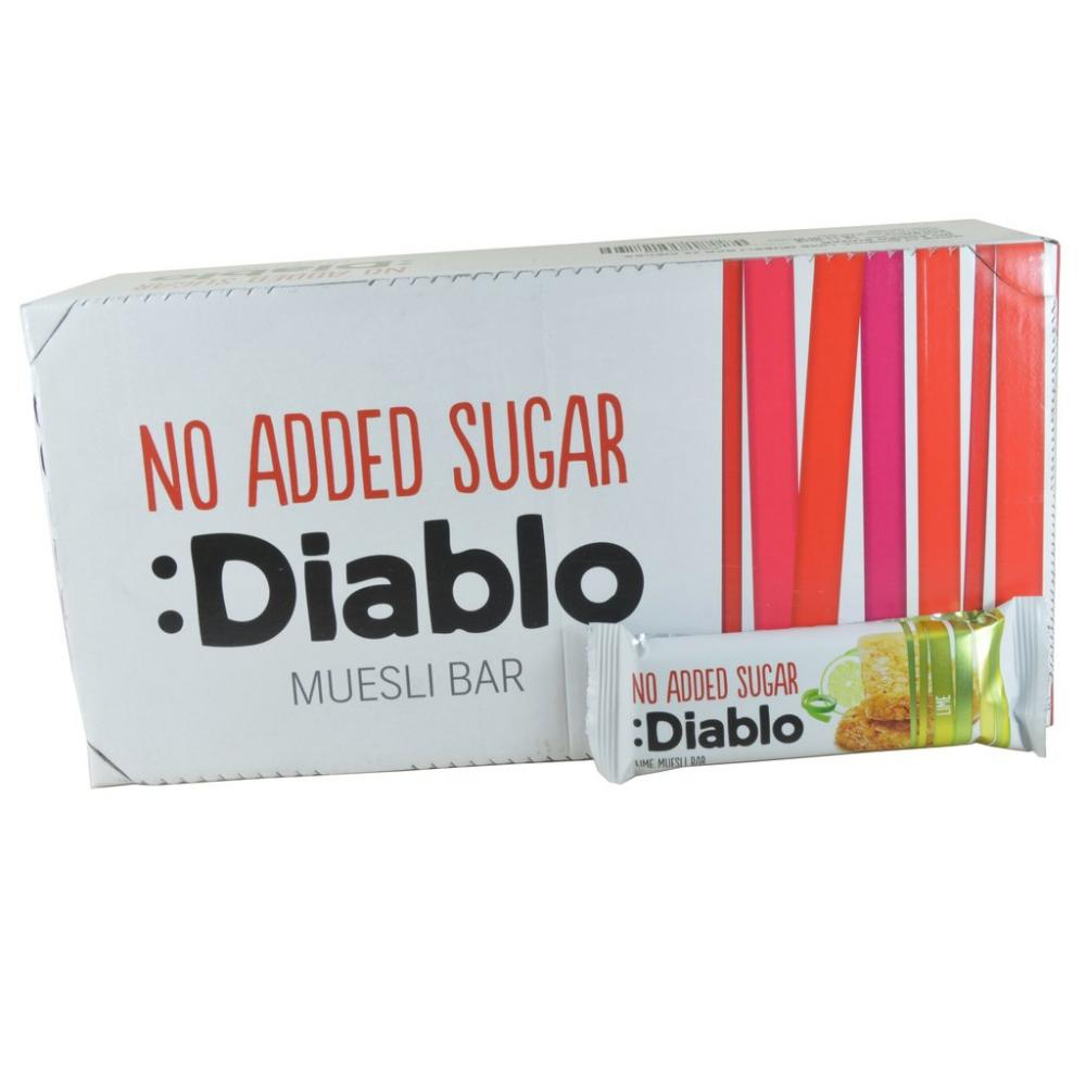 CASE PRICE  Diablo Lime Muesli Bar 30g x 28