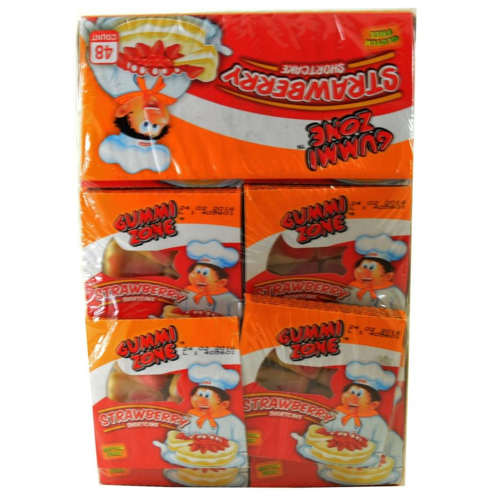 CASE PRICE  Gummi Zone Strawberry Shortcake Fruit Jellies 48 x 15g