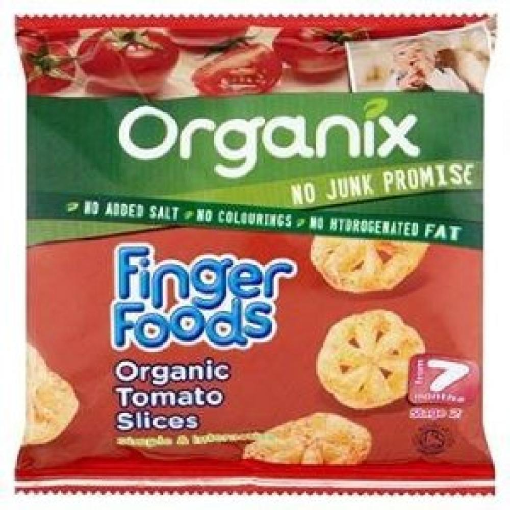 CASE PRICE  Organix Finger Foods Organic Tomato Slices 5 x 20g