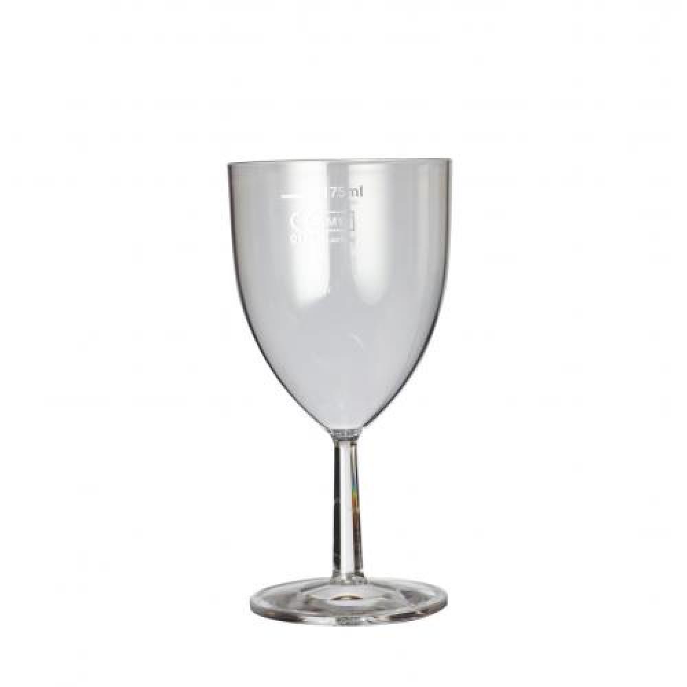 De Identified 125ml Plastic Wine Glass